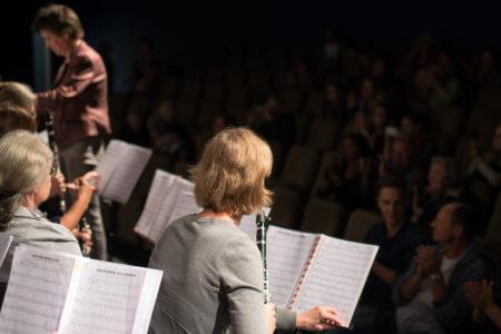 Konzert Anti Aging Bläserensemble Bühne Klangbrücke - music loft | Freie Musikschule Aachen