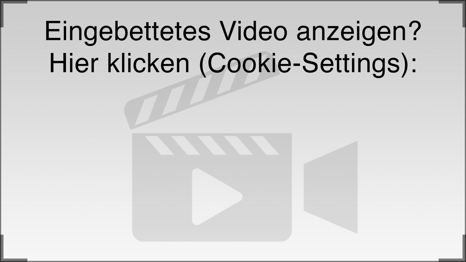 Einstellungen für eingebettete Videos (Cookie-Settings)