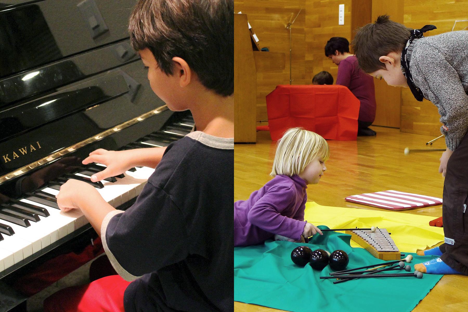Klavierschüler Musikalische Früherziehung - music loft | Freie Musikschule Aachen