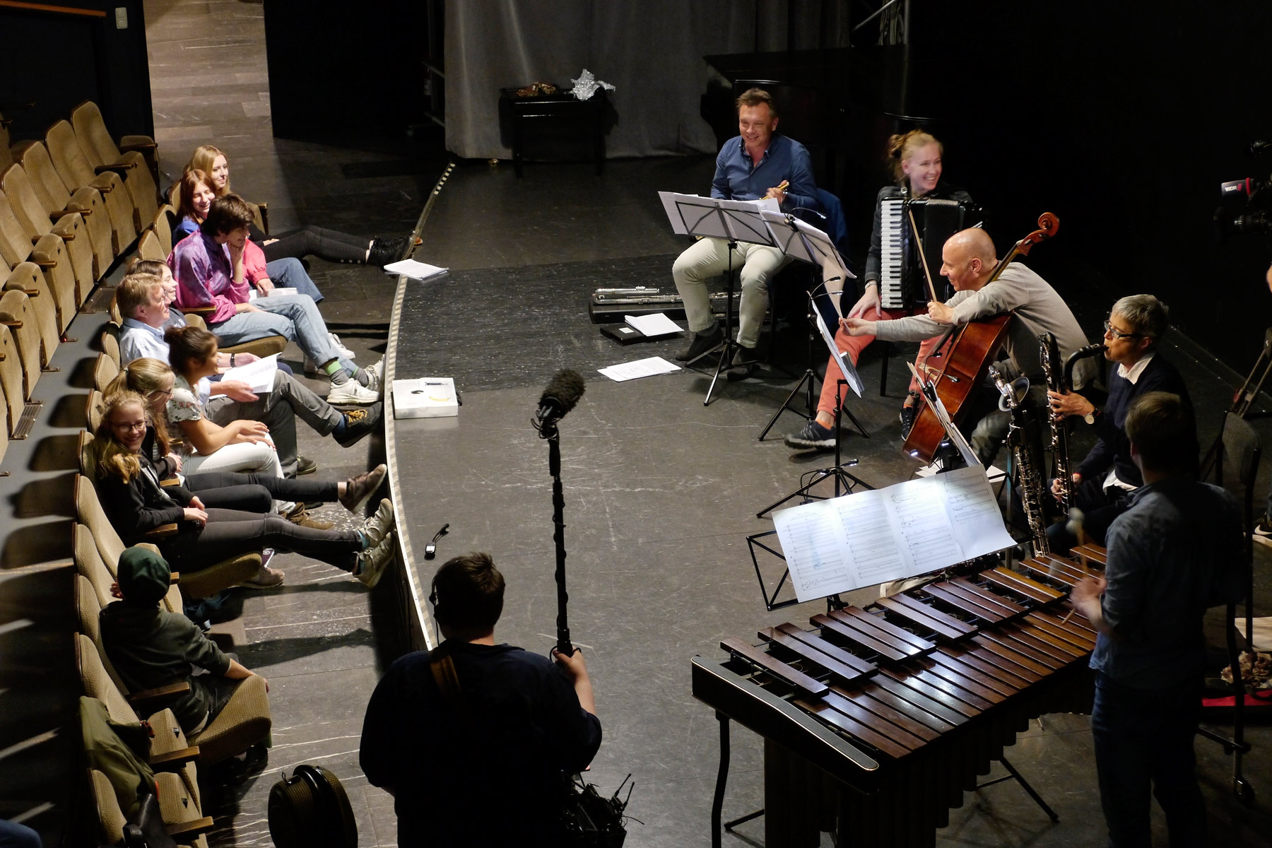Kompositionswerkstatt 2019 Generalprobe Neue Musik Ensemble Aachen in der Klangbrücke