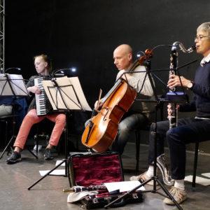 Kompositionswerkstatt für Kinder und Jugendliche Neue Musik Ensemble Aachen in der Klangbrücke