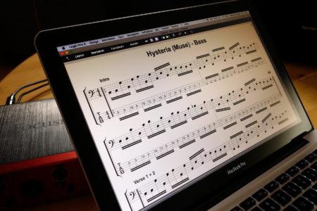 Bassunterricht Markus Proske - Transkription Notenschrift Tabulatur